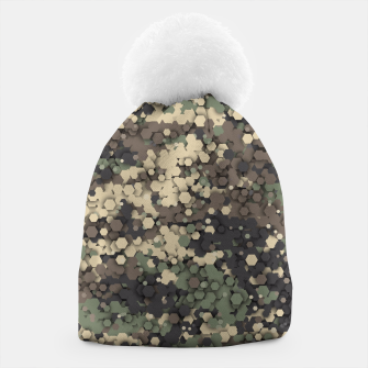 Thumbnail image of Hexagonal camouflage Beanie, Live Heroes