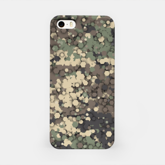 Hexagonal camouflage iPhone Case thumbnail image