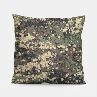 Thumbnail image of Hexagonal camouflage Pillow, Live Heroes