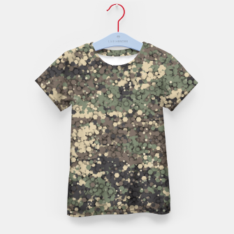 Thumbnail image of Hexagonal camouflage Kid's t-shirt, Live Heroes