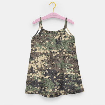 Hexagonal camouflage Girl's dress thumbnail image