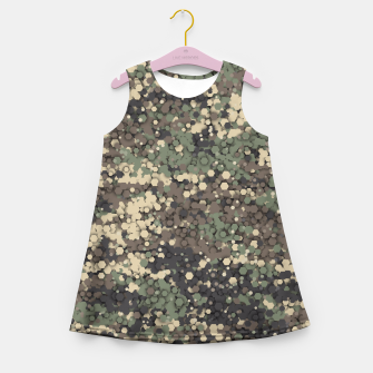 Hexagonal camouflage Girl's summer dress thumbnail image