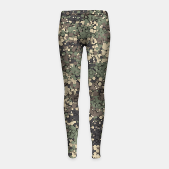 Thumbnail image of Hexagonal camouflage Girl's leggings, Live Heroes