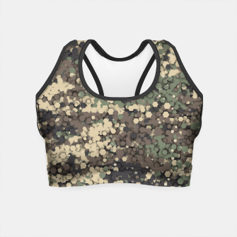Hexagonal camouflage Crop Top thumbnail image