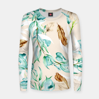 Floral Boho Watercolor Pattern Frauen sweatshirt thumbnail image