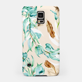 Floral Boho Watercolor Pattern Handyhülle für Samsung thumbnail image