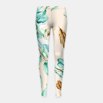 Floral Boho Watercolor Pattern Kinder-Leggins thumbnail image