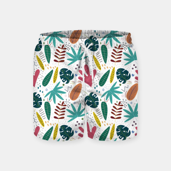 Thumbnail image of Exotic leaves Pantalones de baño, Live Heroes