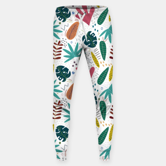 Thumbnail image of Exotic leaves Pantalones de chándal , Live Heroes