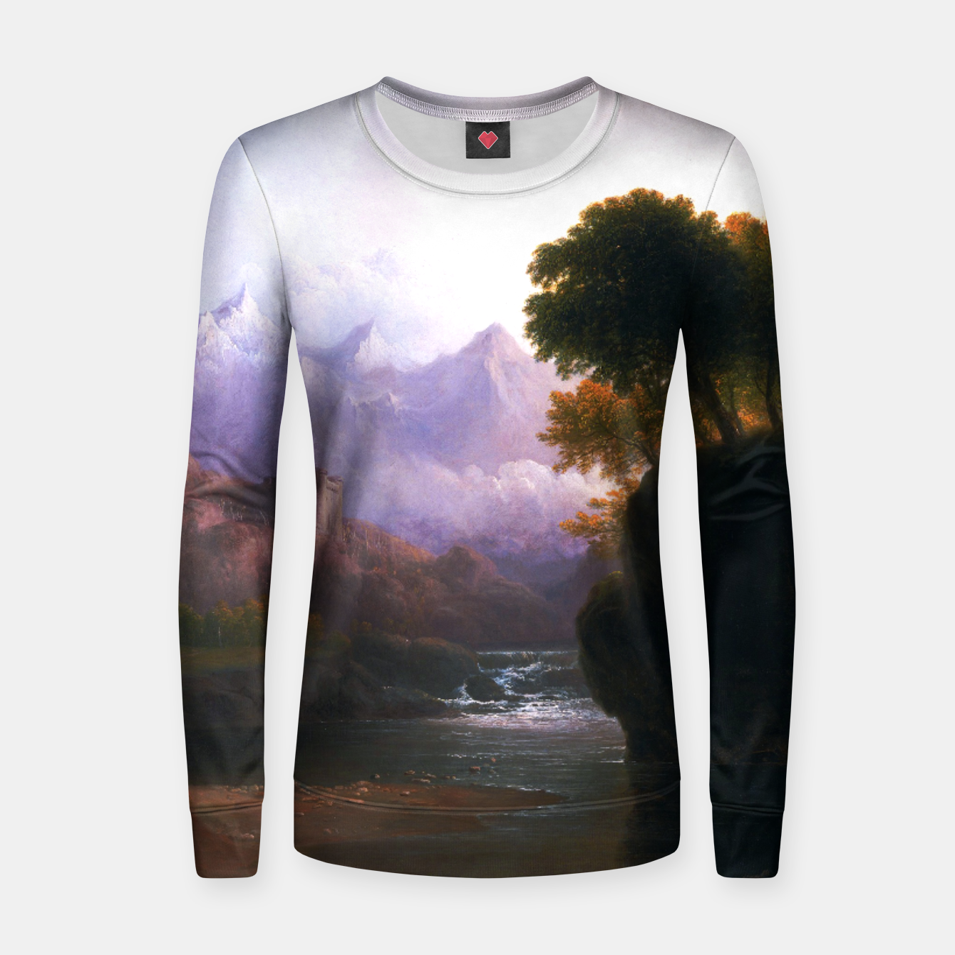 Image of Fanciful Landscape By Thomas Doughty Women sweater - Live Heroes