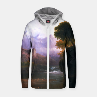 Fanciful Landscape By Thomas Doughty Zip up hoodie miniature