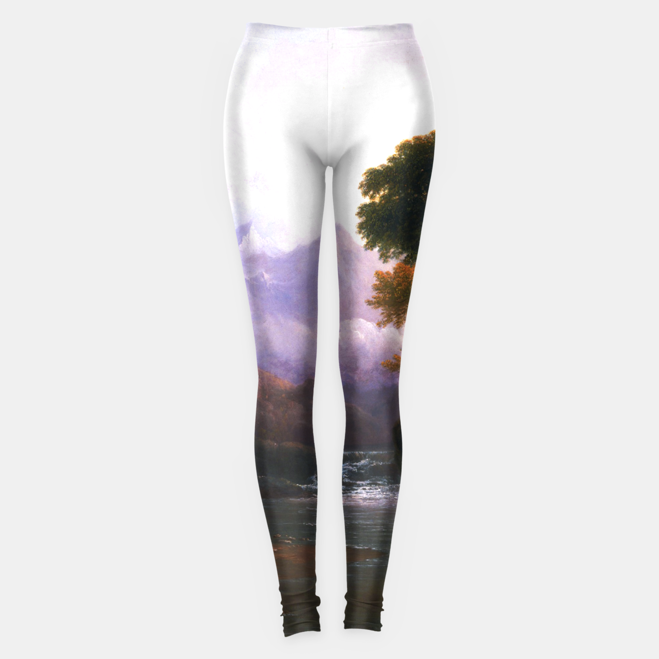 Image de Fanciful Landscape By Thomas Doughty Leggings - Live Heroes