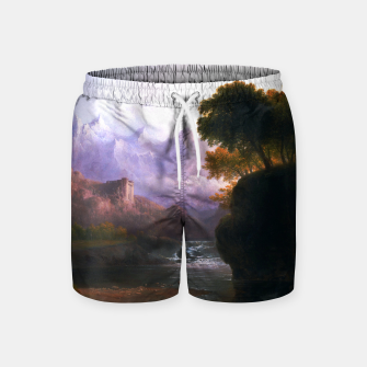 Fanciful Landscape By Thomas Doughty Swim Shorts miniature