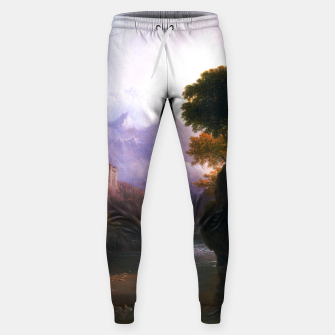 Fanciful Landscape By Thomas Doughty Sweatpants miniature