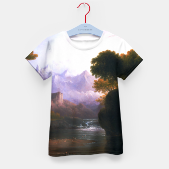 Fanciful Landscape By Thomas Doughty Kid's t-shirt miniature