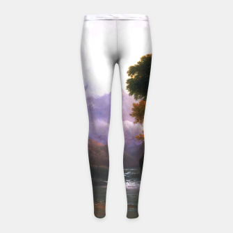 Fanciful Landscape By Thomas Doughty Girl's leggings miniature