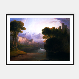Fanciful Landscape By Thomas Doughty Framed poster miniature