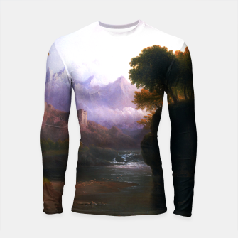 Fanciful Landscape By Thomas Doughty Longsleeve rashguard  miniature