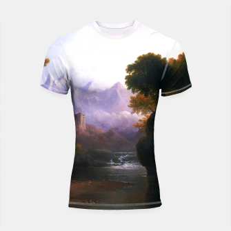 Fanciful Landscape By Thomas Doughty Shortsleeve rashguard miniature