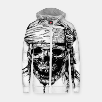 Thumbnail image of Pirate Zip up hoodie, Live Heroes