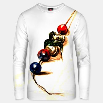 Food surrealism  skewer Yulia A Korneva Unisex sweater imagen en miniatura