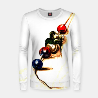 Food surrealism  skewer Yulia A Korneva Women sweater imagen en miniatura