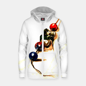 Food surrealism  skewer Yulia A Korneva Zip up hoodie imagen en miniatura