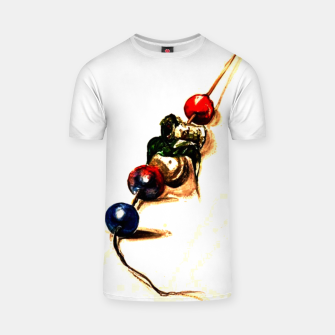 Food surrealism  skewer Yulia A Korneva T-shirt thumbnail image