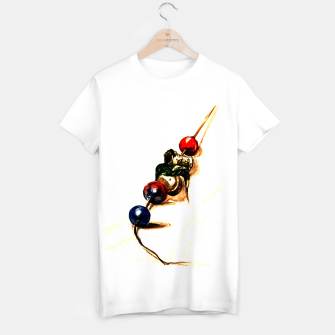 Food surrealism  skewer Yulia A Korneva T-shirt regular imagen en miniatura