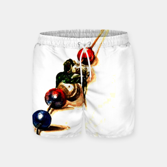 Food surrealism  skewer Yulia A Korneva Swim Shorts imagen en miniatura