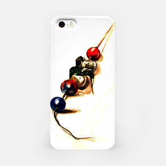 Food surrealism  skewer Yulia A Korneva iPhone Case imagen en miniatura
