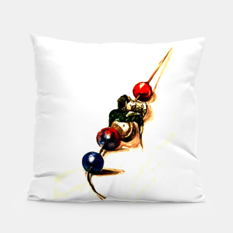 Food surrealism  skewer Yulia A Korneva Pillow thumbnail image