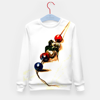 Thumbnail image of Food surrealism  skewer Yulia A Korneva Kid's sweater, Live Heroes