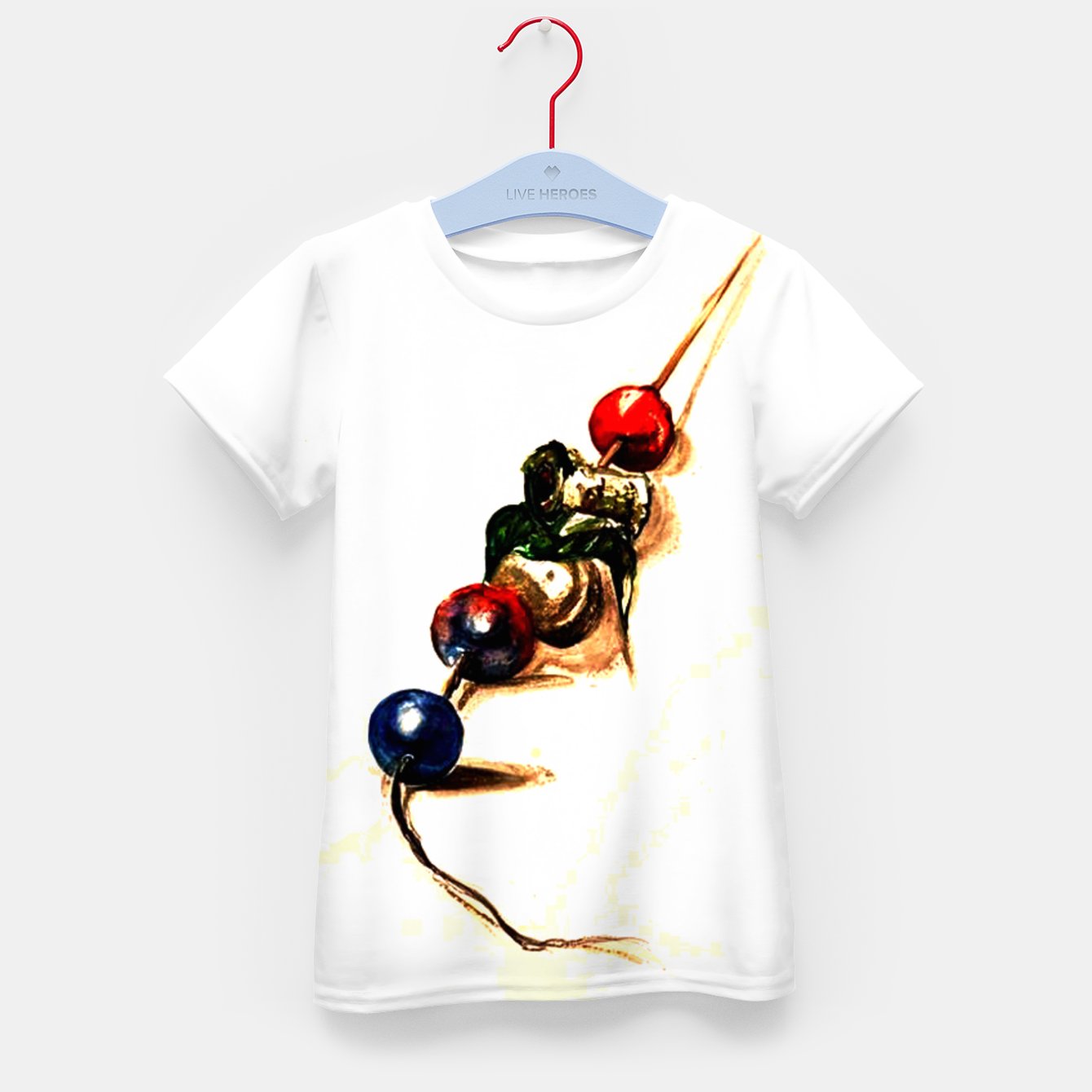Imagen de Food surrealism  skewer Yulia A Korneva Kid's t-shirt - Live Heroes