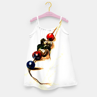 Thumbnail image of Food surrealism  skewer Yulia A Korneva Girl's dress, Live Heroes