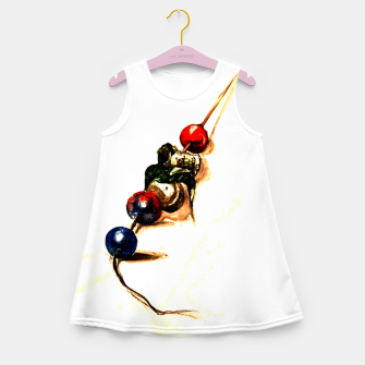 Food surrealism  skewer Yulia A Korneva Girl's summer dress imagen en miniatura