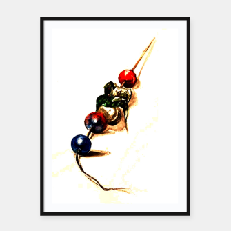 Thumbnail image of Food surrealism  skewer Yulia A Korneva Framed poster, Live Heroes