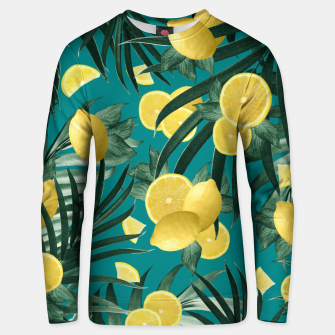 Summer Lemon Twist Jungle #5 #tropical #decor #art Unisex sweatshirt obraz miniatury