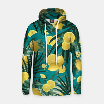 Summer Lemon Twist Jungle #5 #tropical #decor #art Kapuzenpullover obraz miniatury