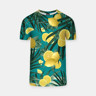 Summer Lemon Twist Jungle #5 #tropical #decor #art T-Shirt obraz miniatury