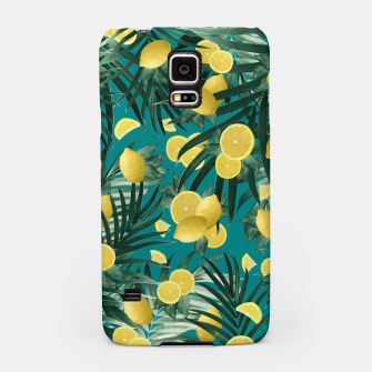 Thumbnail image of Summer Lemon Twist Jungle #5 #tropical #decor #art Handyhülle für Samsung, Live Heroes