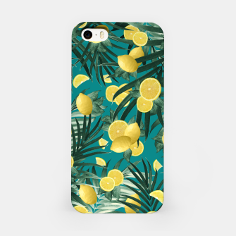 Miniaturka Summer Lemon Twist Jungle #5 #tropical #decor #art iPhone-Hülle, Live Heroes