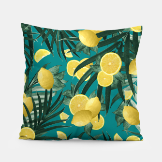 Thumbnail image of Summer Lemon Twist Jungle #5 #tropical #decor #art Kissen, Live Heroes