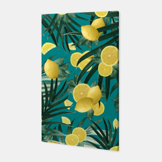 Thumbnail image of Summer Lemon Twist Jungle #5 #tropical #decor #art Canvas, Live Heroes