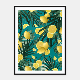 Thumbnail image of Summer Lemon Twist Jungle #5 #tropical #decor #art Plakat mit rahmen, Live Heroes