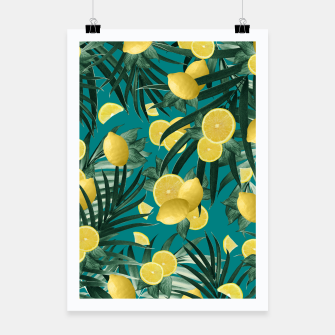 Summer Lemon Twist Jungle #5 #tropical #decor #art Plakat obraz miniatury