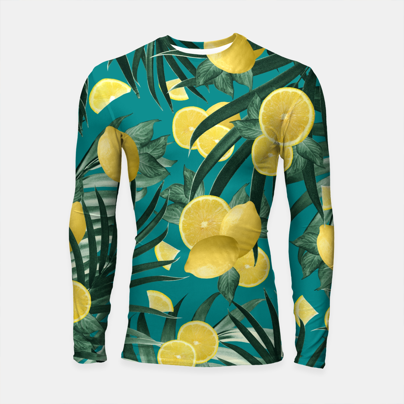 Image of Summer Lemon Twist Jungle #5 #tropical #decor #art Longsleeve rashguard - Live Heroes