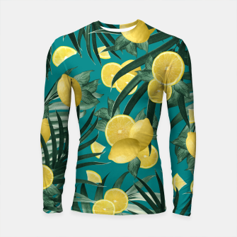 Thumbnail image of Summer Lemon Twist Jungle #5 #tropical #decor #art Longsleeve rashguard, Live Heroes