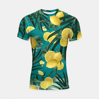 Thumbnail image of Summer Lemon Twist Jungle #5 #tropical #decor #art Shortsleeve rashguard, Live Heroes