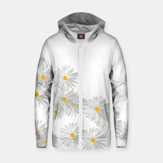 Thumbnail image of daisy flower sunflower minimal Zip up hoodie, Live Heroes